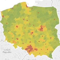 Mapa Polski Tableau Powiaty logo (Klonuj)