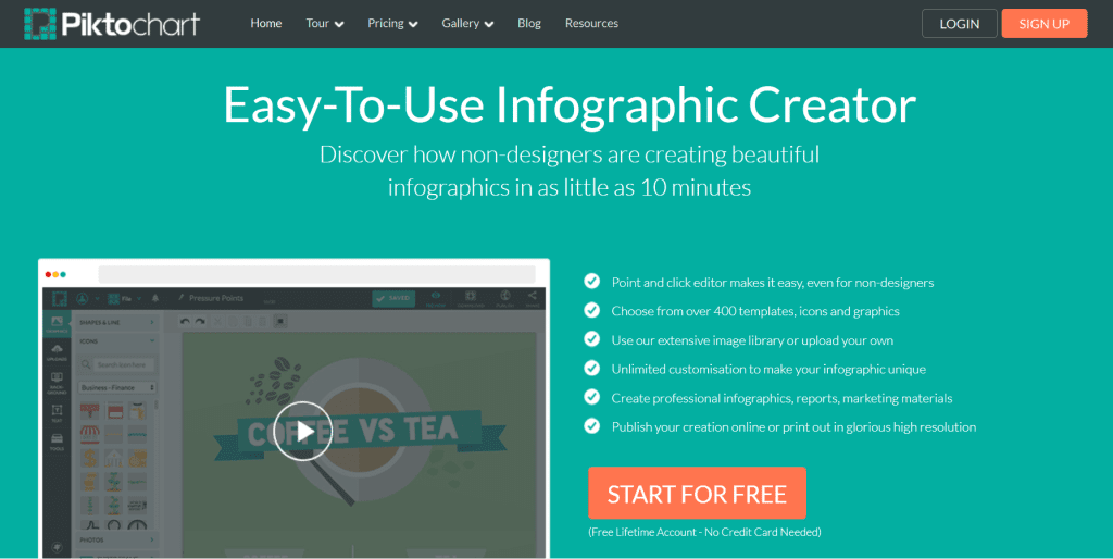 Easy infographic creator