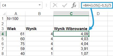 Wibrowanie jittering wykresu Excel 2