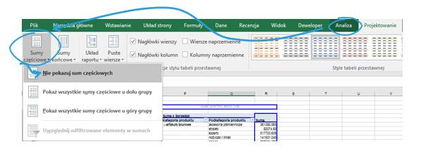 Przedstawienie drugiej zmiennej na wykresie przestawnym Excel w postaci koloru_5