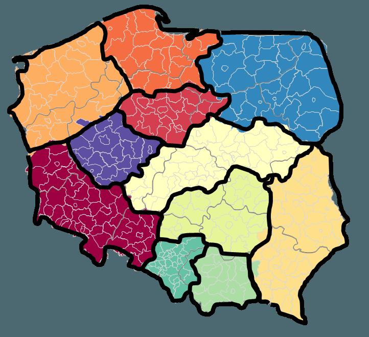 Mapa Polski Excel Odc 1 Jak Stworzyć Podział Geograficzny Na