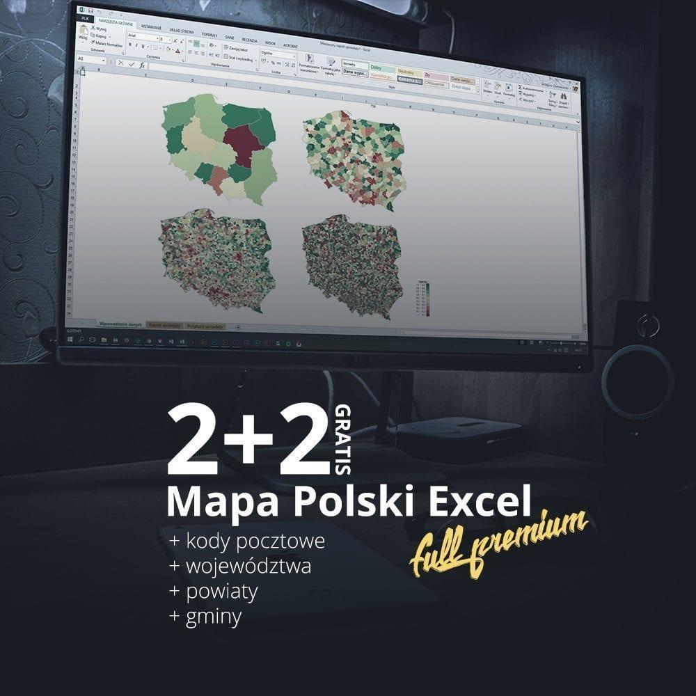 mapa polski full premium