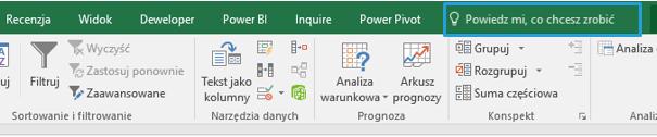 Co nowego wprogramie Excel 2016 (cz.1) - formatowanie, powiedz mi, szablony_3