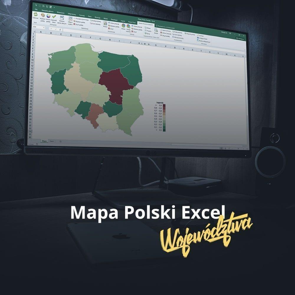 Mapa Polski Excel Województwa