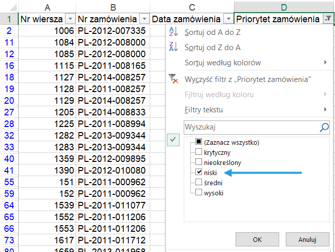 Jak Usunąć Odfiltrowane Wiersze Z Tabeli Excel